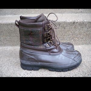 Polo Ralph Lauren Crestwick Leather Mens Boots 10